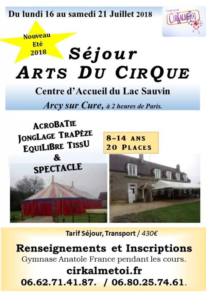 Affiche Sejour Cirque 2018